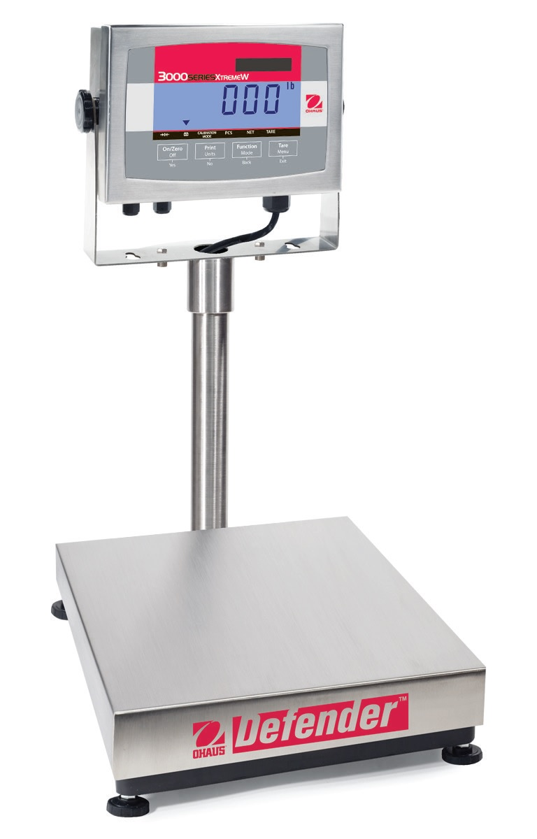 Ohaus Defender 3000 Stainless Steel Bench Scale Brady Systems